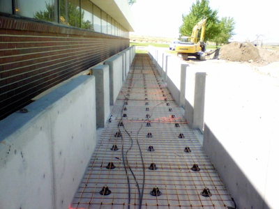 Tuff Cable installed for heating new concrete sidewalk